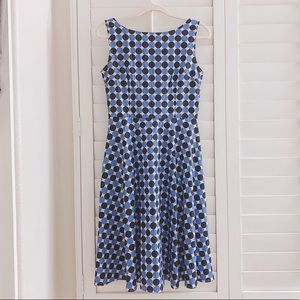 New blue enchantress dotted dress size small